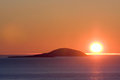 Midnight sun in northern norway Royalty Free Stock Images