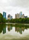 Midtown Atlanta on a cloudy day Royalty Free Stock Photo