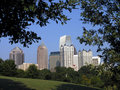 Midtown Atlanta framed Stock Photo