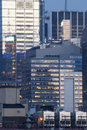 Midtown manhattan office building new york city usa march the reuters news agency in at sunset on march th in new york city usa Royalty Free Stock Photos