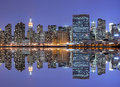 Midtown Manhattan skyline Royalty Free Stock Photography