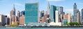 The midtown Manhattan skyline Royalty Free Stock Photo