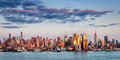 Midtown Manhattan Skyscrapers Reflecting Light at Sunset, New York City Royalty Free Stock Photo