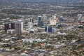 Midtown phoenix looking northwest at arizona from above Royalty Free Stock Photography