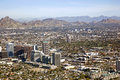 Midtown skyline of phoenix arizona looking to the northeast Stock Image
