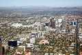 Midtown skyline of phoenix arizona looking to the northwest Stock Images