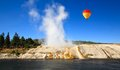 Midway geyser basin in yellowstone the scenery at national park Royalty Free Stock Photography