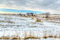 Midwest American Farm in Winter Royalty Free Stock Photo