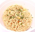 Mie noodles with vegetables some dried asian Royalty Free Stock Photos