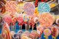 Mieszani kolorowi lizaki Obrazy Stock