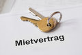 Mietvertrag German lease agreement Royalty Free Stock Photo