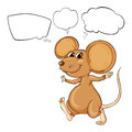The mighty brown mouse illustration of on a white background Royalty Free Stock Photo