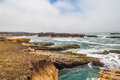 The mighty pacific ocean view of on mendocino coastline from highway Stock Photography