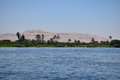 Mighty river nile valley in egypt the the middle of the desert Stock Image