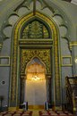 Mihrab prayer niche sultan mosque singapore the and imam s pulpit area at the masjid is a semicircular in the wall of a Stock Photos