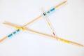 Mikado sticks scattered on white background - 9 Royalty Free Stock Photo