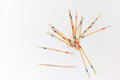 Mikado sticks scattered on white background - 2 Royalty Free Stock Photo