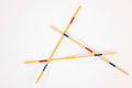 Mikado sticks scattered on white background - 5 Royalty Free Stock Photo