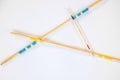 Mikado sticks scattered on white background - 8 Royalty Free Stock Photo
