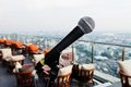 Mike on the lookout bangkok Royalty Free Stock Photo