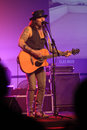Mike tramp white lion vocalist appeared to entertain fans at a hotel in the city of solo central java indonesia Stock Photos