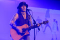Mike tramp white lion vocalist appeared to entertain fans at a hotel in the city of solo central java indonesia Stock Images