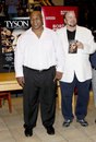 Mike tyson and james toback promotes the blu ray dvd held at the borders in hollywood usa on august Stock Image