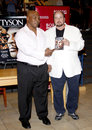 Mike tyson and james toback promotes the blu ray dvd held at the borders in hollywood usa on august Royalty Free Stock Photo