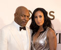 Mike tyson and lakiha spicer former heavyweight boxing champion recently a broadway performer wife arrive on the red carpet at Stock Images