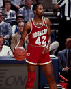 Mike woodward houston rockets image taken from color slide Royalty Free Stock Photo