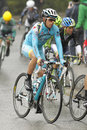 Mikel landa of team astana rides during the tour catalonia cycling race through the streets monjuich mountain in barcelona Stock Photography