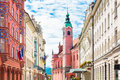 Miklosic Street in Ljubljana, Slovenia. Royalty Free Stock Photo