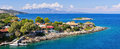 Mikro Nisi village on Zakynthos island, Greece Royalty Free Stock Photo
