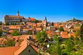 Mikulov / Nikolsburg castle and town Royalty Free Stock Photo