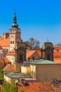 Mikulov / Nikolsburg castle and town Royalty Free Stock Image