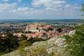 Mikulov town south moravia czech republic view from svaty kopecek Stock Image