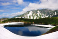 Mikurigaike pond japan alp at chubu sangaku national park Stock Photo