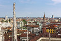Milan beautiful view from duomo in Royalty Free Stock Photo