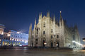 Milan cathedral night scene of duomo in milano italy Stock Images