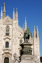 Milan Cathedral and Piazza del Duomo Royalty Free Stock Image