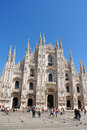 Milan Cathedral and Piazza del Duomo in Italy Royalty Free Stock Photos