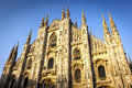 Milan Cathedral at Sunset Royalty Free Stock Photo