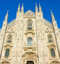 Milan Cathedral & x28;Duomo Milano& x29;. Italy Royalty Free Stock Photo