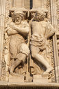 Milan - giants statue Duomo cathedral Royalty Free Stock Photos