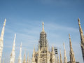 Milan gothic cathedral at the piazza del duomo Stock Image