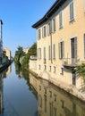 Milan Italy: canal of Martesana