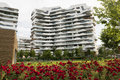 Milan italy citylife modern residential buildings in lombardy Stock Image