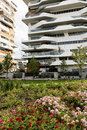 Milan italy citylife modern residential buildings in lombardy Royalty Free Stock Photo