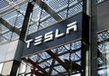 MILAN, ITALY - JULY 19, 2017: Tesla Motors store in Piazza Gae Aulenti square in Milan, Italy Royalty Free Stock Photo
