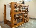 MILAN, ITALY - JUNE 9, 2016: mechanical loom models of Leonardo
